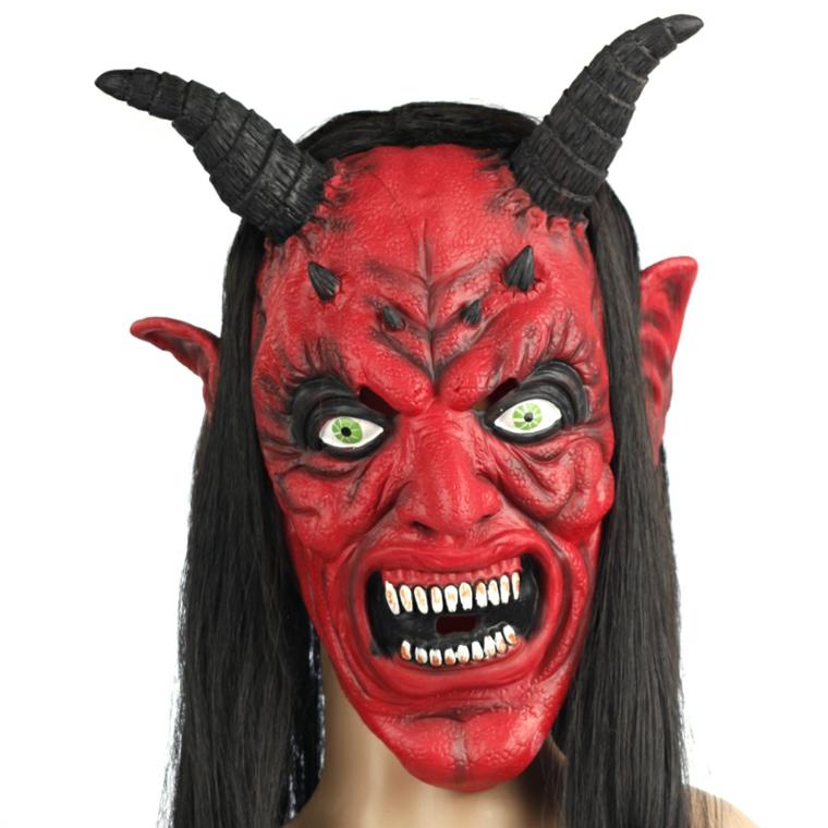 Лучшие костюмы на Хэллоуин. Маска к костюму Дьяволицы.